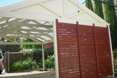 Double Carport with timber slats