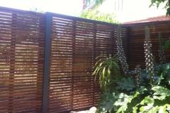 hardwood fencing slats